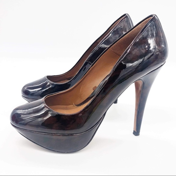 Zara Heels Tortoise Shell Leather Pumps